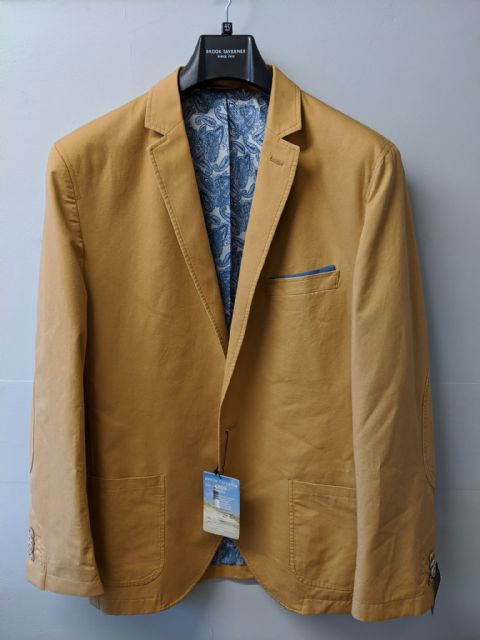 Yellow Washable Cotton Jacket by Brook Taverner - 3947C